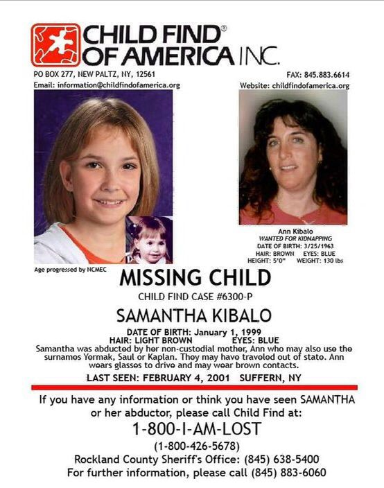 Samantha Kibalo- Abducted | Missing Children | Missing child, Female