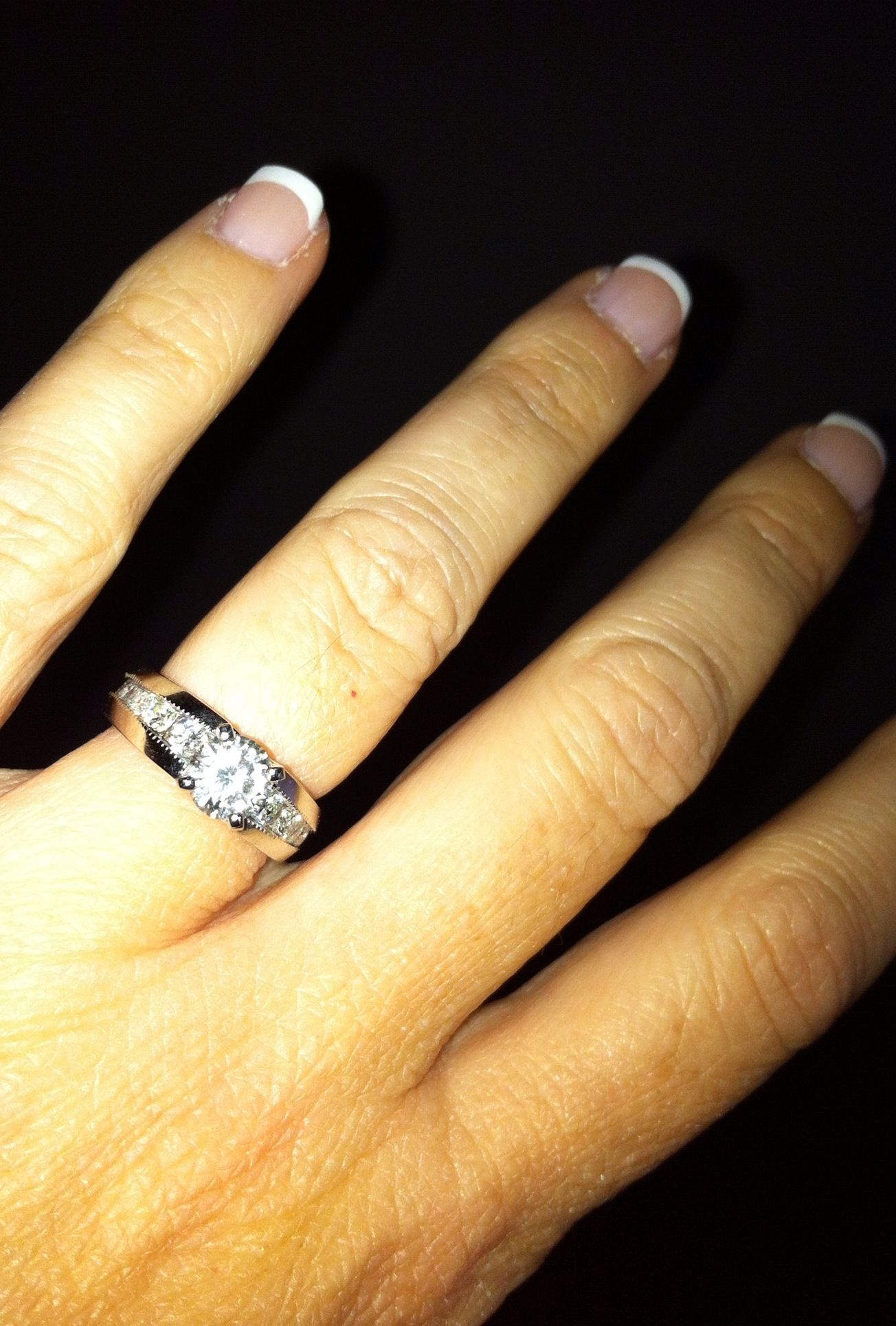 3ba9a8cd0d Had my Grandmothers wedding ring (something old) set into my wedding band ( something new). Priceless!