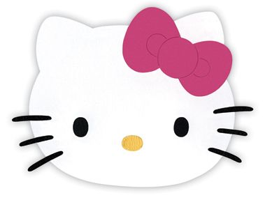 Hello Kitty Printable Cutouts Hello Kitty Collection Die Cutting Template Large Hello Kitty Deco Hello Kitty Caras Y Manualidades
