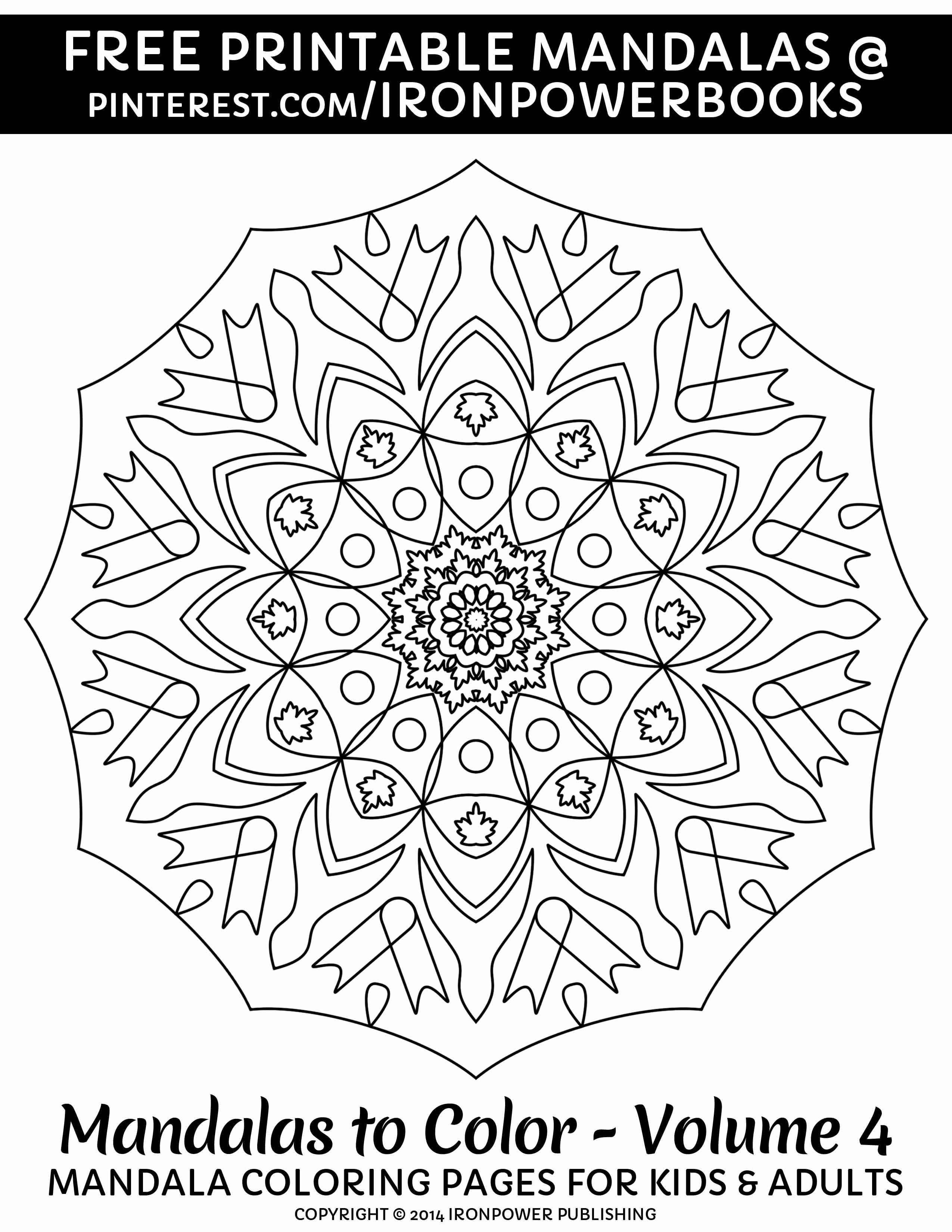 Printable Mandala Line Art Coloring Page | Simple Mandala Coloring ...