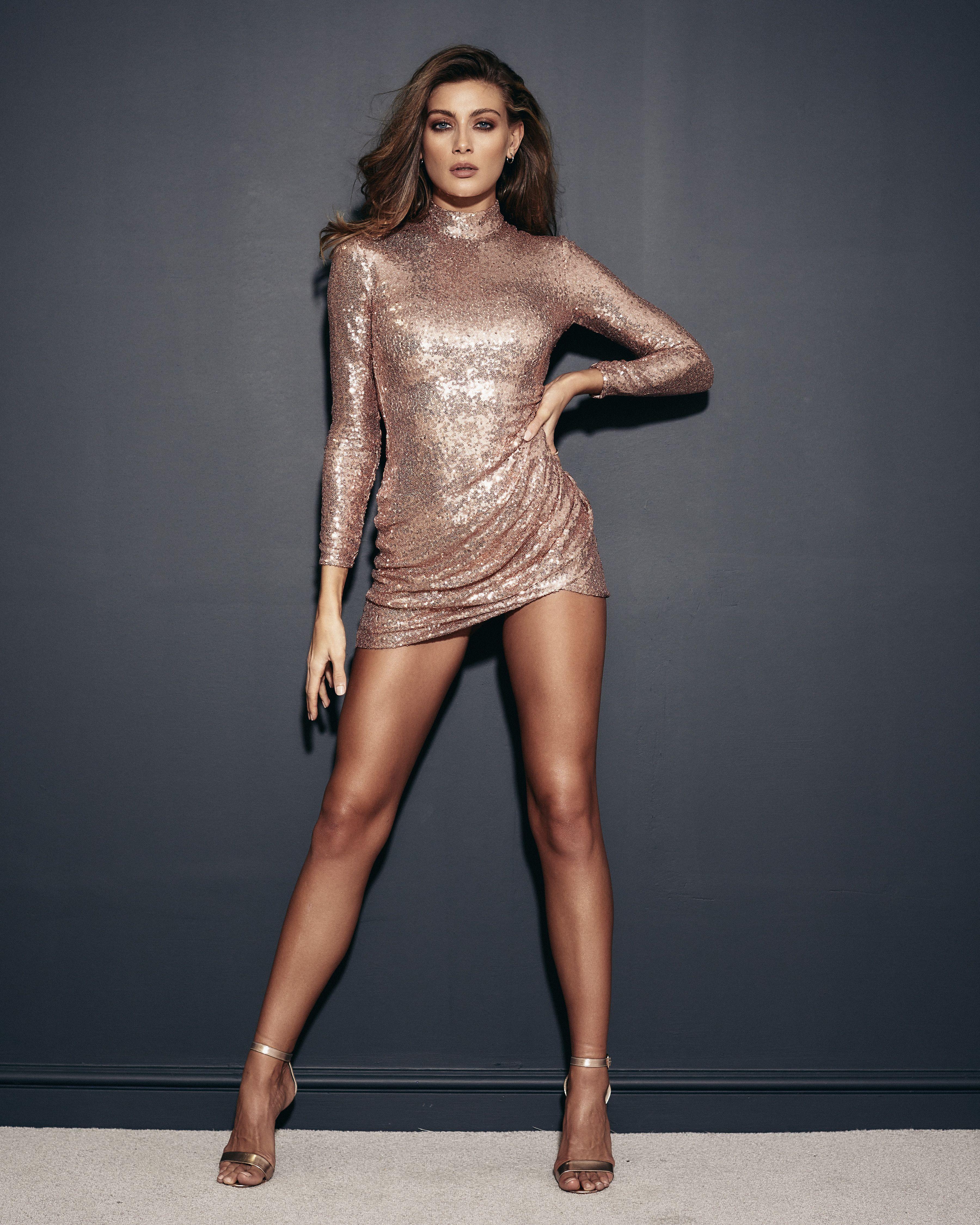 77bf62fe Stephanie Pratt Champagne Open Back Mini Sequin Dress | LBD Winter ...