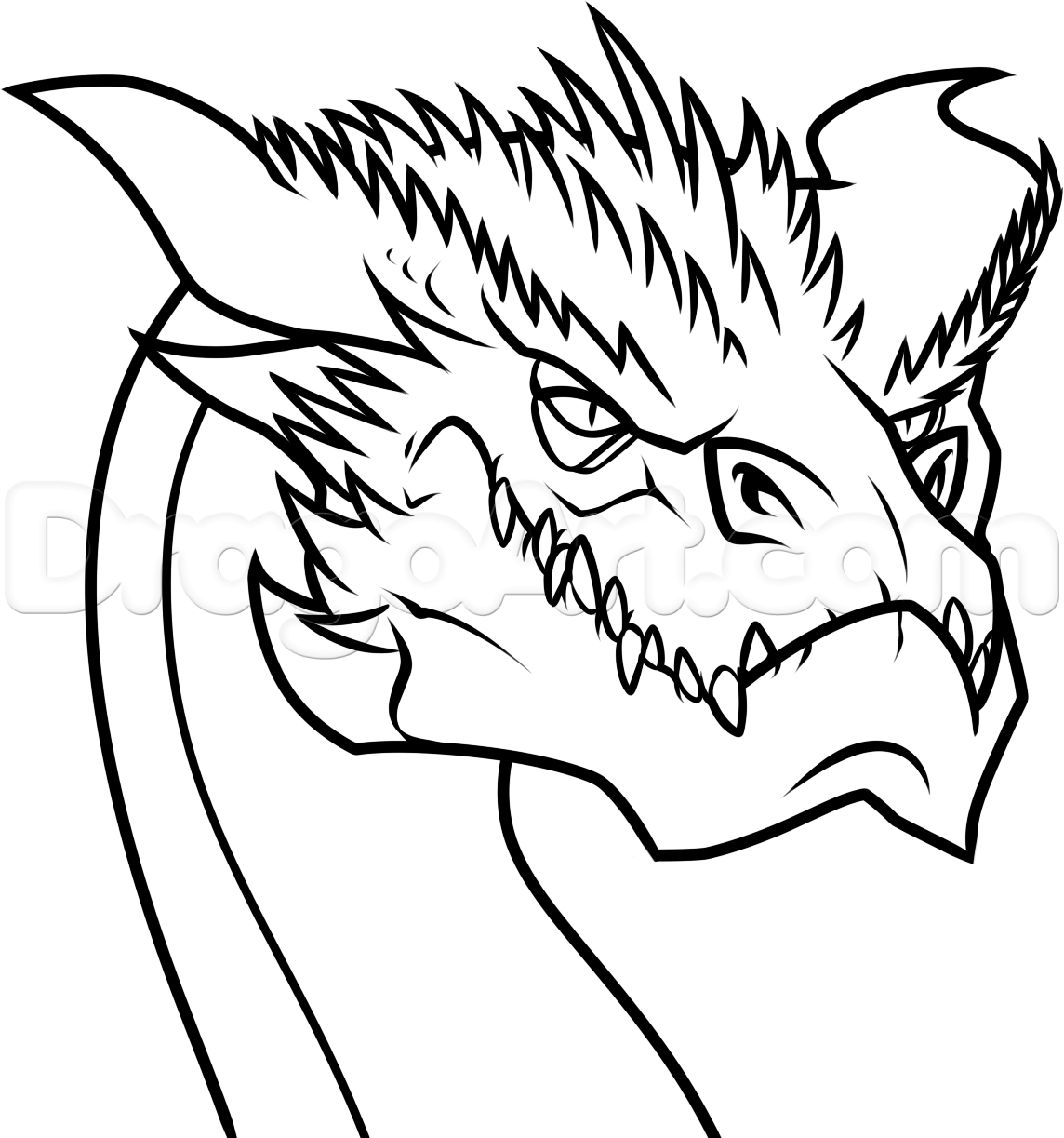 How To Draw Smaug Easy by Dawn | Easy dragon drawings ...