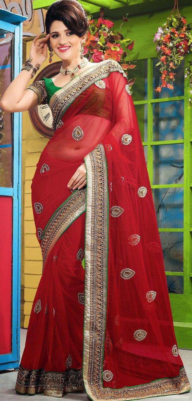 Silk saree below 2000 crimson designer net saree for wedding     indian sari
