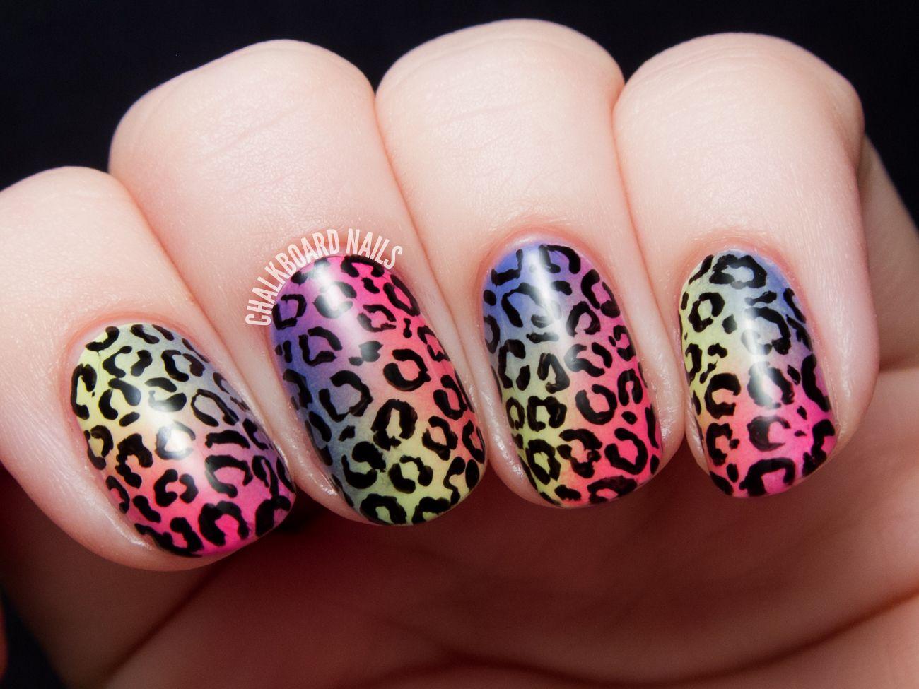 Tropical Rainbow Leopard Print - China Glaze City Flourish