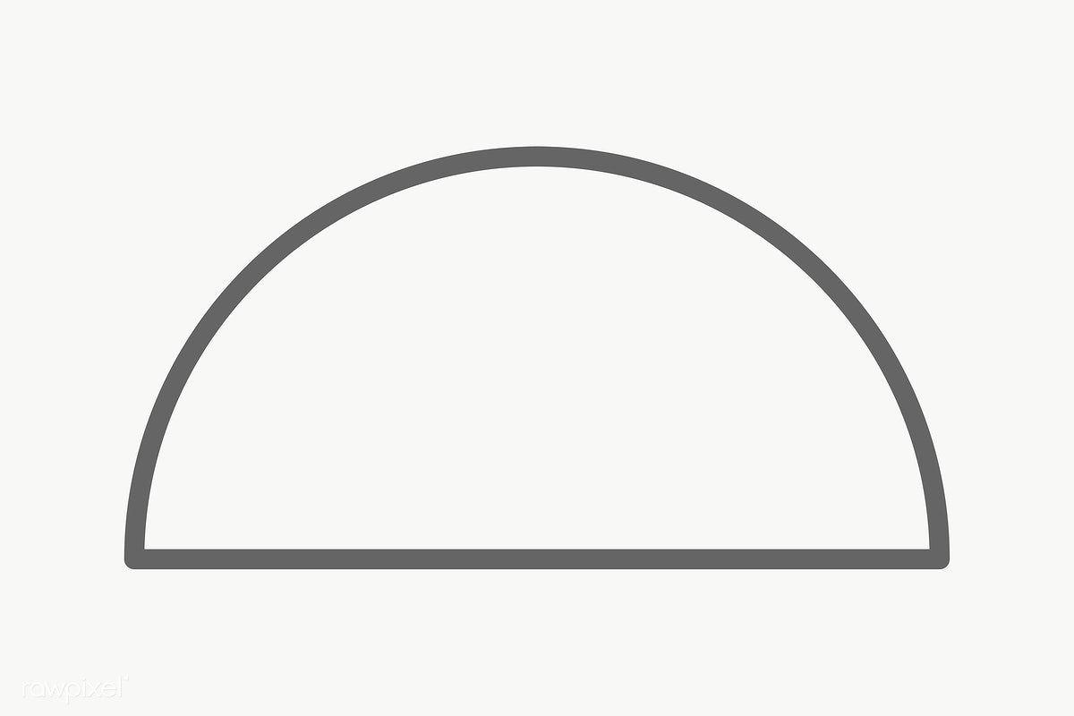 Stroke Semicircle Geometric Shape Transparent Png Free Image By Rawpixel Com Ningzk V Geometric Shapes Geometric Shapes