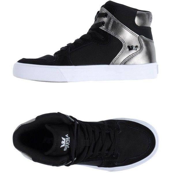 Supra High-tops & Sneakers (79 AUD) ❤ liked on Polyvore featuring shoes, sneakers, black, black leather sneakers, animal print shoes, leather high top sneakers, black leather shoes and animal print sneakers