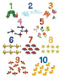 eric carle numbers print my classroom caterpillar hungry caterpillar very hungry caterpillar. Black Bedroom Furniture Sets. Home Design Ideas