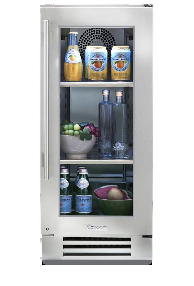 True Residential Undercounter Refrigerator 15 Series Stainless Glass Undercounter Refrigerator Glass Door Refrigerator Beverage Refrigerator
