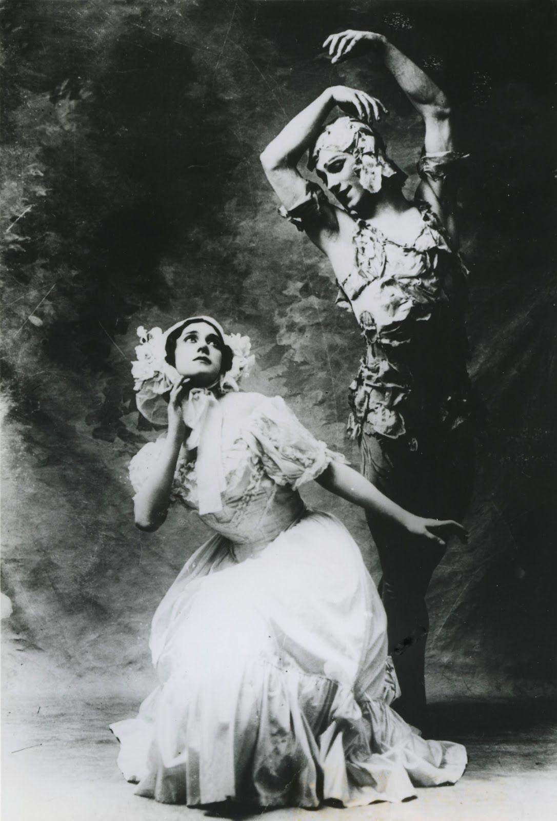 Karsavina and Nijinsky in 'Le Spectre de la Rose'. Oh, to have been in the room...