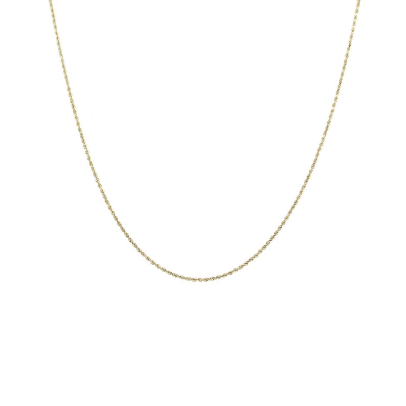 14k Solid Gold 0 75mm Thin Rope Chain Necklace Etsy Rose Gold Chain Necklace 14k Gold Rope Chain Necklace Etsy