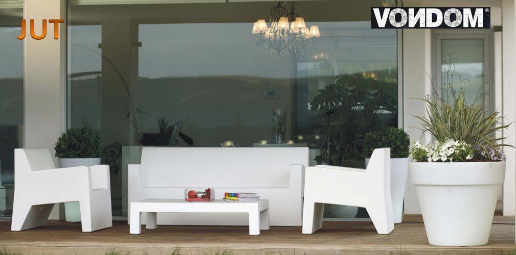 Salon de jardin JUT, 1 Sofa + 2 Fauteuil Butaca + 1 Table basse ...