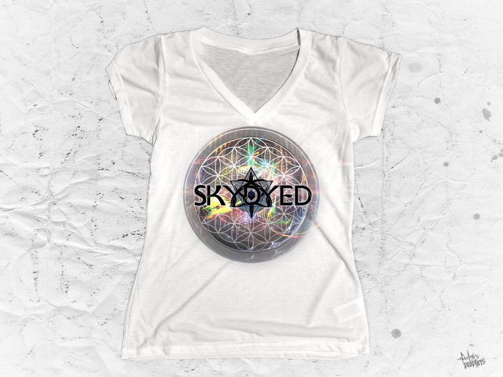 "Skydyed X POP - ""Future White"" Women's V-Neck"