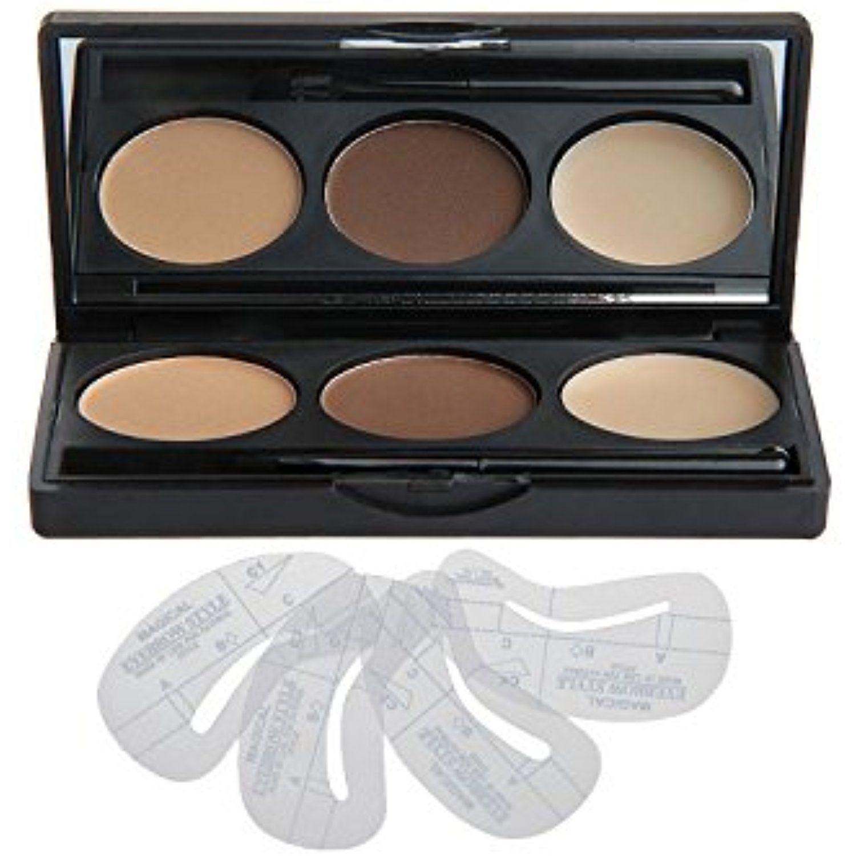 Vodisa 3 Colour Eyebrow Makeup Powder Kit Eye Brow Tint Palette