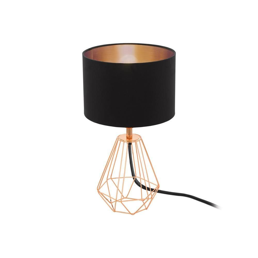 Eglo 95787 carlton 2 copper wire vintage table lamp with black shade eglo 95787 carlton 2 copper wire vintage table lamp with black shade the eglo 95787 aloadofball Choice Image