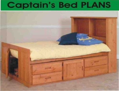 Beds Captain Twin Captains Bed With Bookcase Headboard