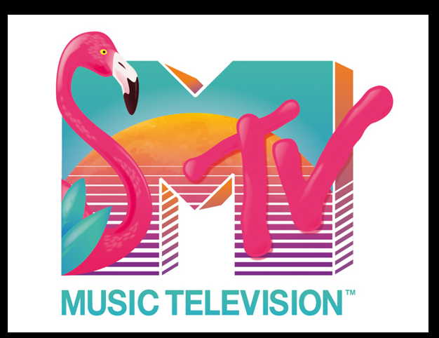 I want my MTV Flamingo logo, 80s logo, Mtv logo