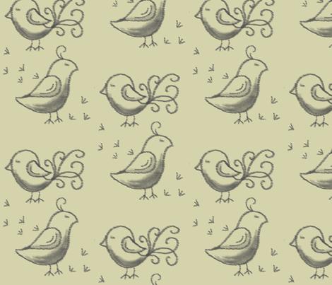birds of paradise fabric by lathenson on Spoonflower - custom fabric