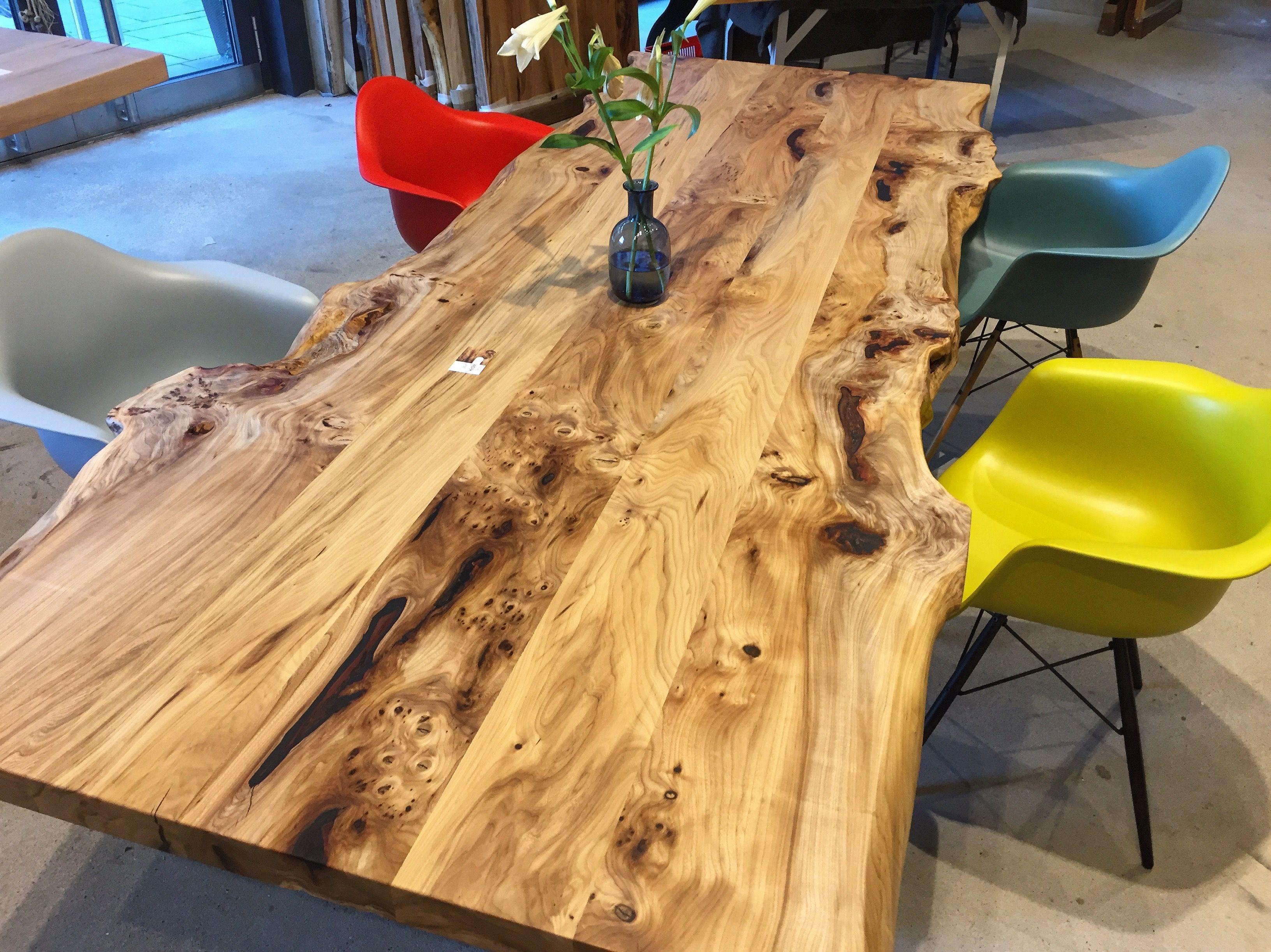 Mass Tisch esstisch aus ulmenholz auf maß naturholztisch massivholztisch auf
