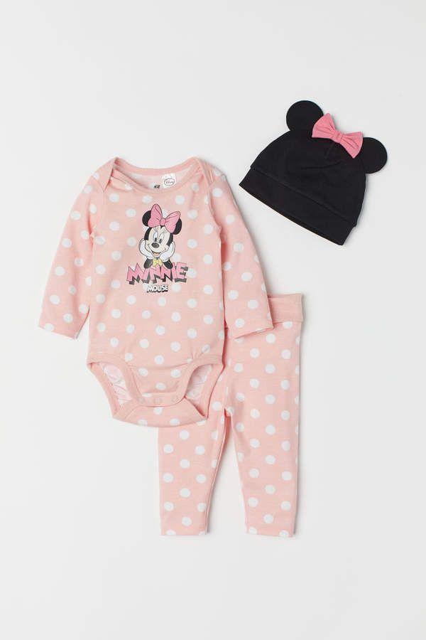 scegli l'ultima immagini dettagliate nuovo stile di 3-piece Jersey Set | Products | H&m baby, Kids outfits girls ...