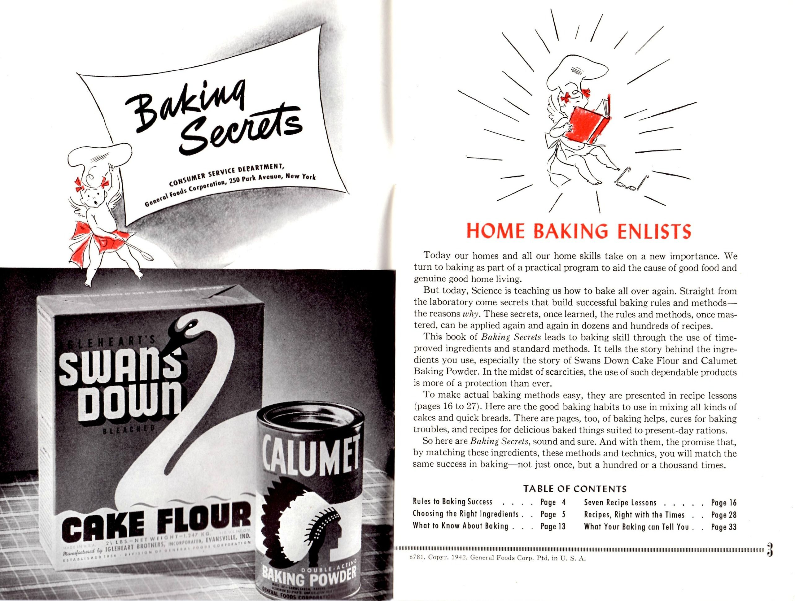 Pin by cyn zano on Vintage ephemera Baking secrets, Home
