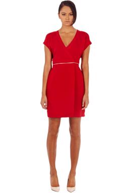 Zip Waist Wrap Dress