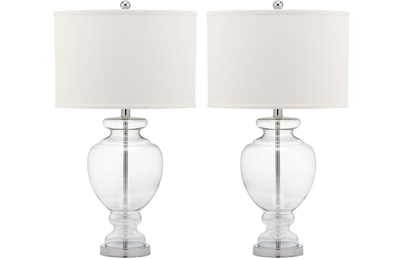 S 2 Landon Table Lamp Set Clear Glass Table Lamp Clear Glass Table Lamp Clear Table Lamp