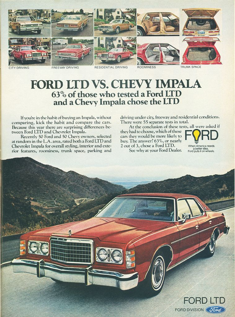 Ford Ltd Ad 1977 Ford Ltd Ford Classic Cars Ford