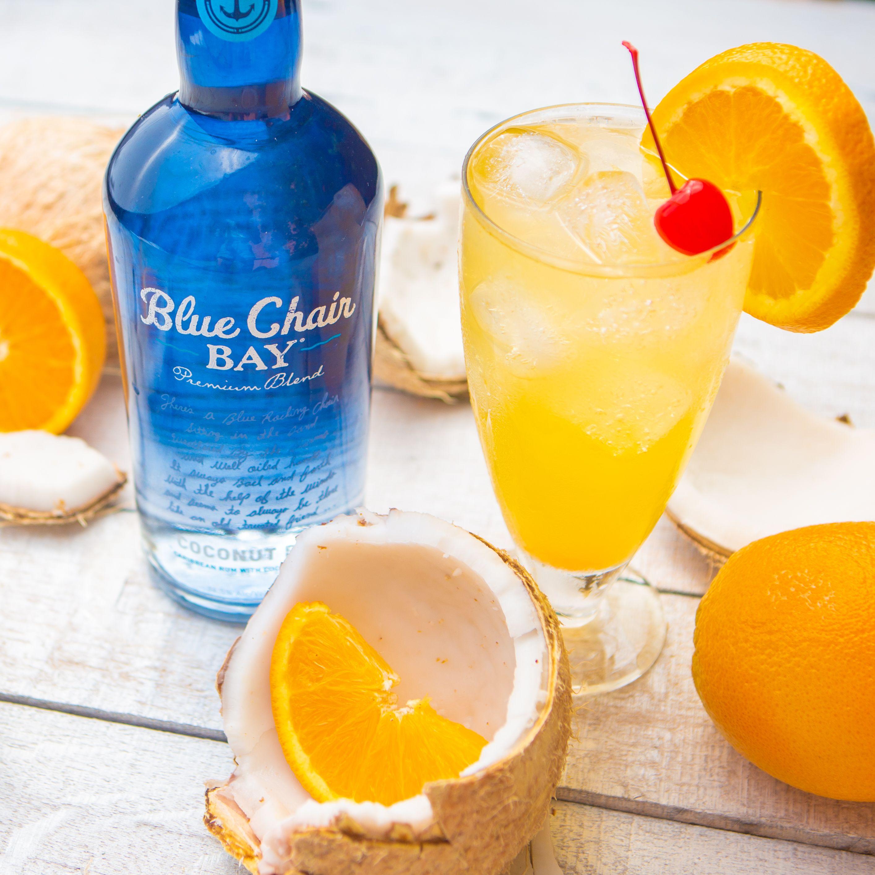 1.5 oz. Blue Chair Bay® Coconut Rum 1 oz. orange juice 1