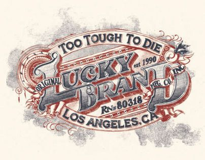 Collection of Lucky Brand artwork I was fortunate enough to work on while I was with them full-time. Cheers!!!