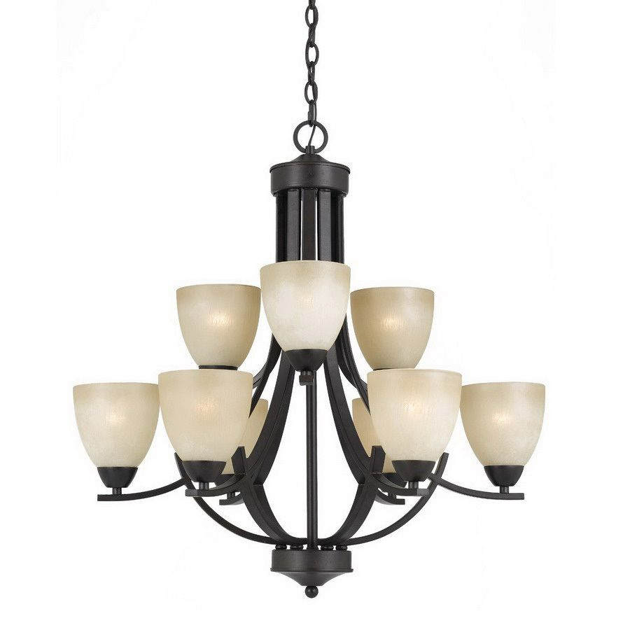 Shop triarch international 9 light english bronze chandelier at shop triarch international 9 light english bronze chandelier at lowes aloadofball Image collections