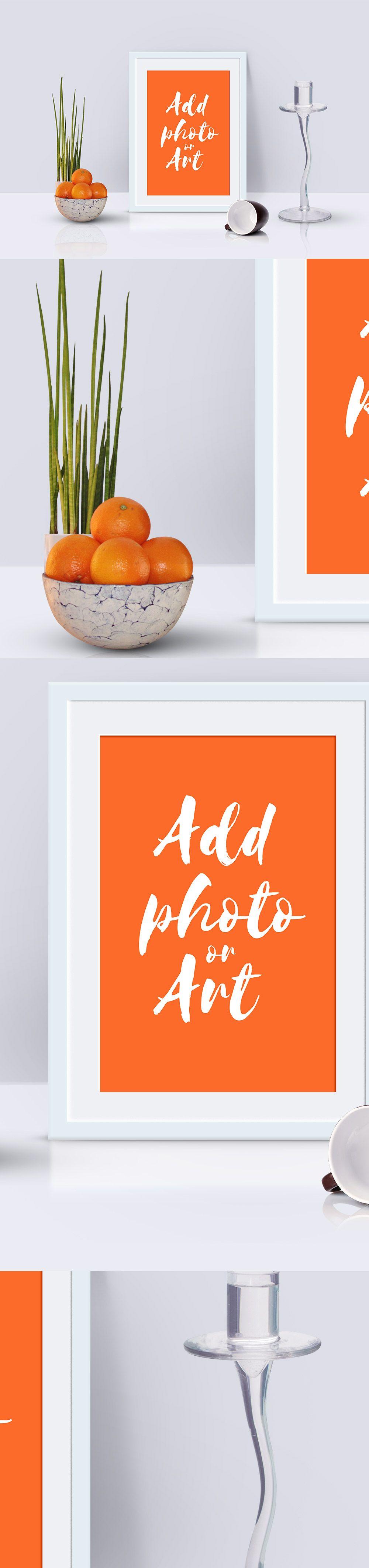 Photo Frame Mockup Scene | Mockup, Scene and Fonts