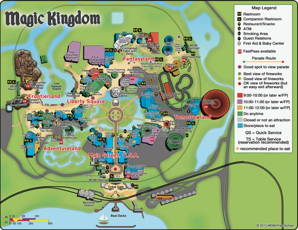 Superior Free, Downloadable Custom Disney World Maps PDF, JPG Formats + QR Codes