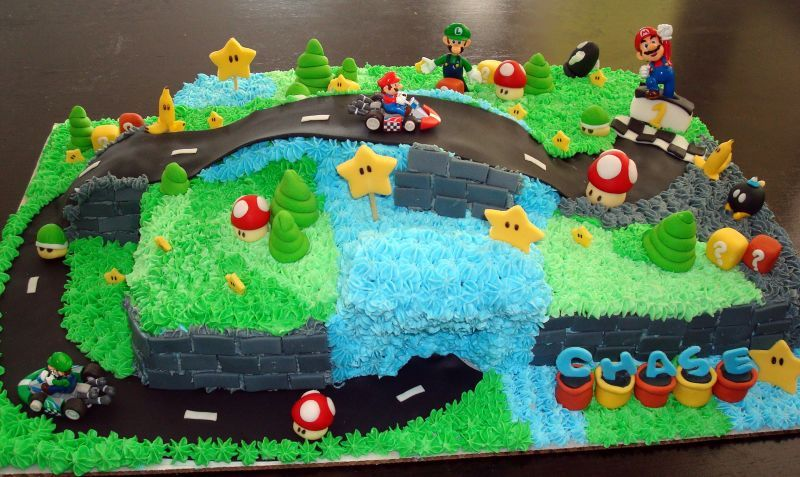 Mario Kart Race Car Children S Birthday Cakes Mario Kart Cake Mario Birthday Cake Mario Bros Birthday