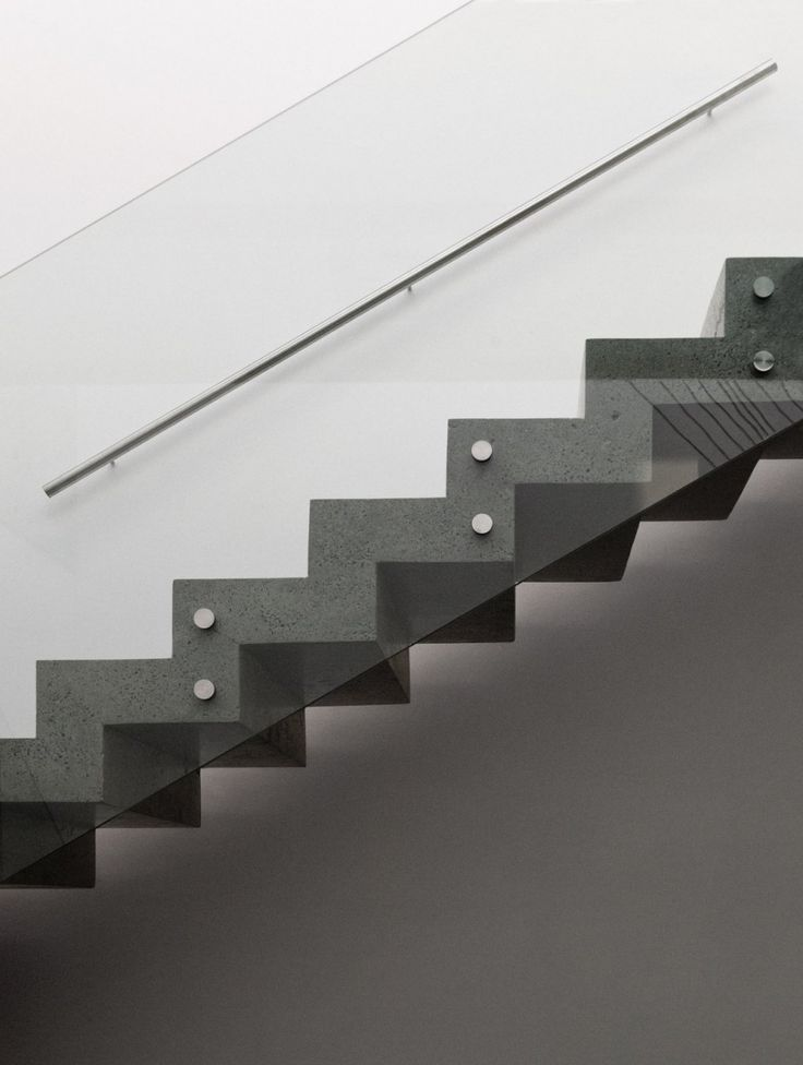 Glass Guardrail Concrete Stair   Google Search