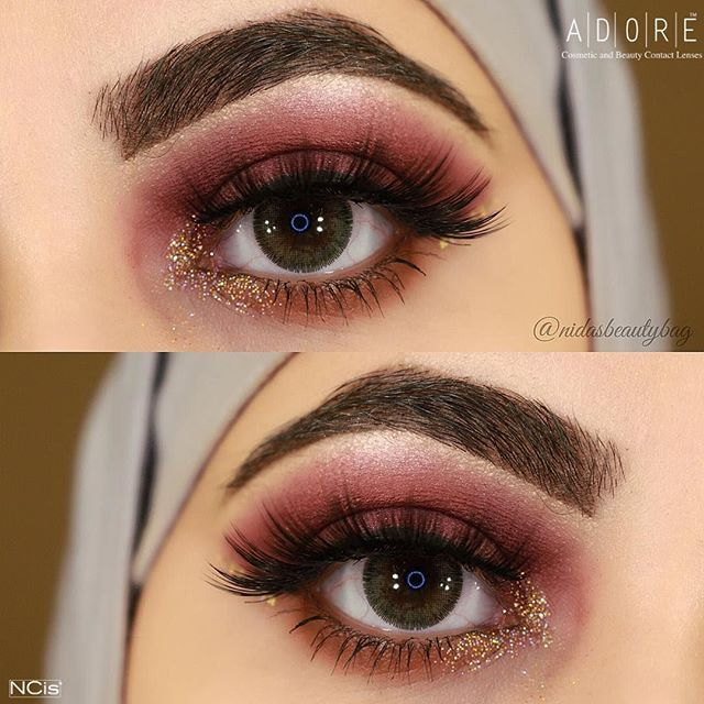 c430232f46410 Color Contact Lenses Adore Bi yellow by Natural bi tone collection worn by   nidasbeautybag