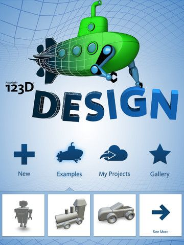 123D Design: Create amazing 3D printable designs!  With Autodesk 123D Design you can make your own products, parts, or creations.