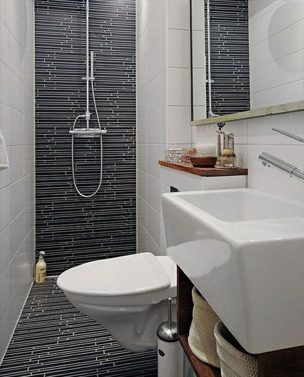 15 modern and small bathroom design ideas home with for Wet bathroom design
