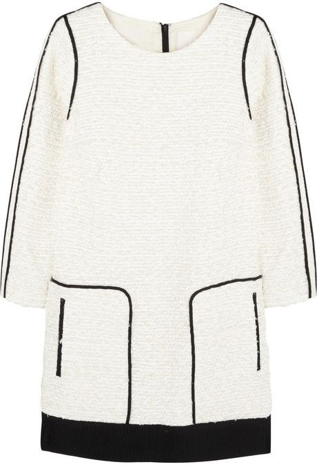 fc56642351a J.Crew Collection satin-trimmed bouclé-tweed mini dress