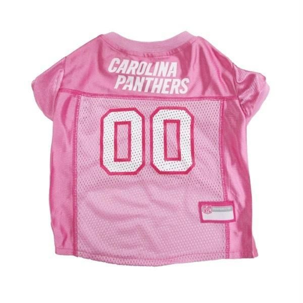Get your pet ready for the game with this officially licensed NFL pink pet  jersey. This 100% satin and poly mesh jersey is designed with the Carolina  ... 672aa70d9