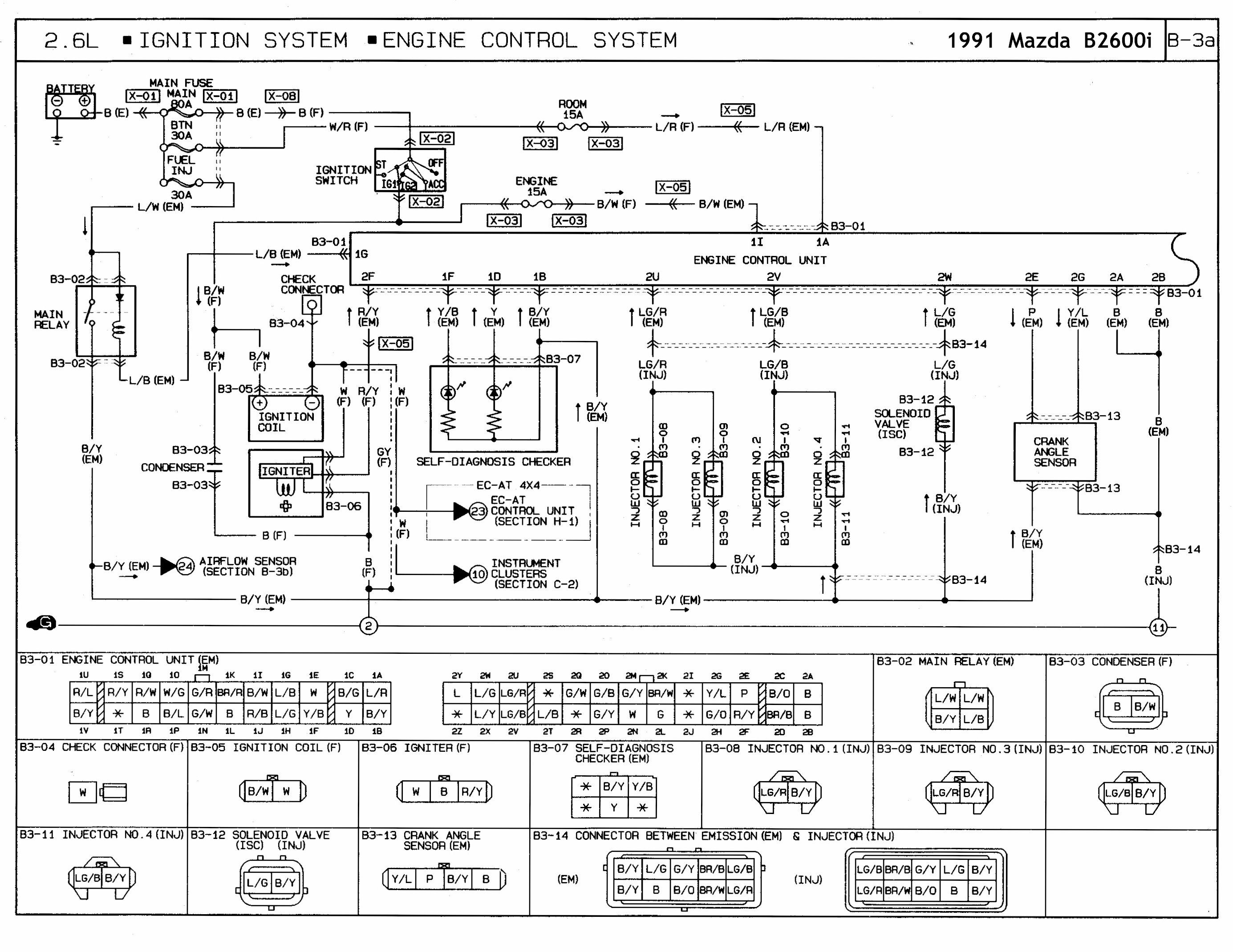 1991 Mazda B2600i Engine Control Wiring Diagram In 2020 Electrical Wiring Diagram Ignition System Diagram