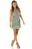 Down For The Count Dress: Green/Multi | Hope's