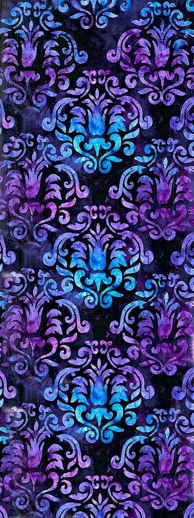 Vintage Blue And Purple Pattern