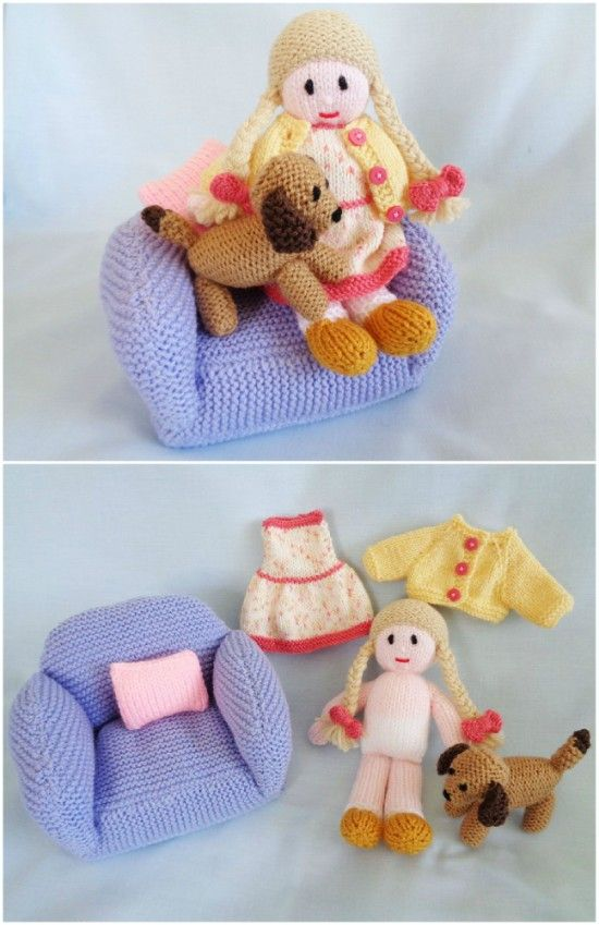 Hand Knitted Doll Patterns On Etsy To Try | Knitted dolls ...