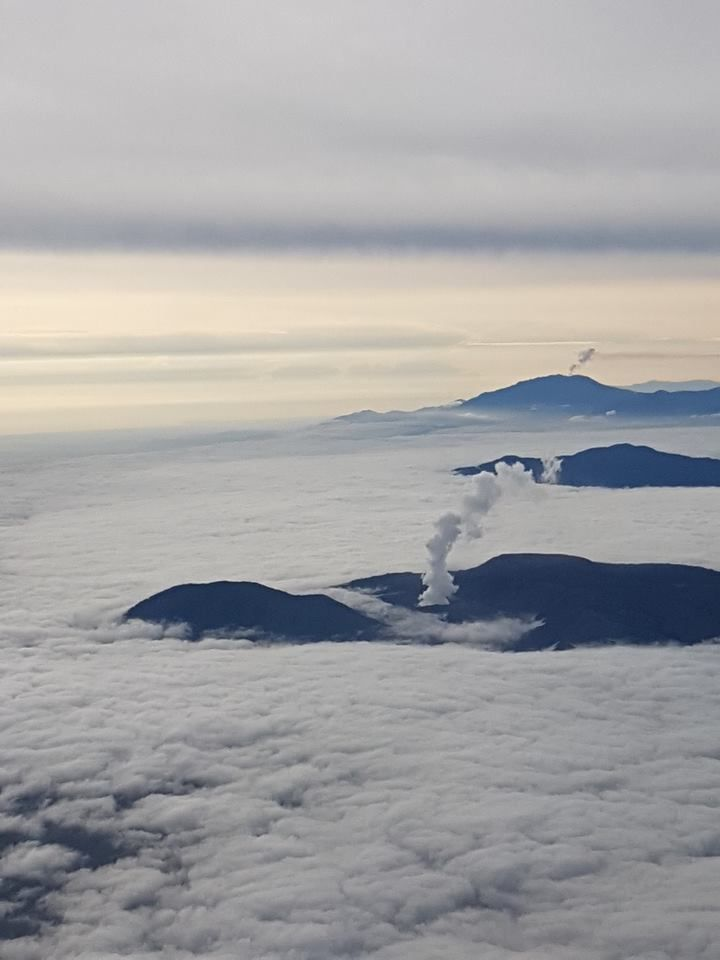 Poas Volcano foreground and Turrialba Volcano in the background, by Laura Barboza Rodríguez