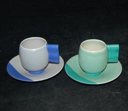 Moderne Coffee Cups and Saucers