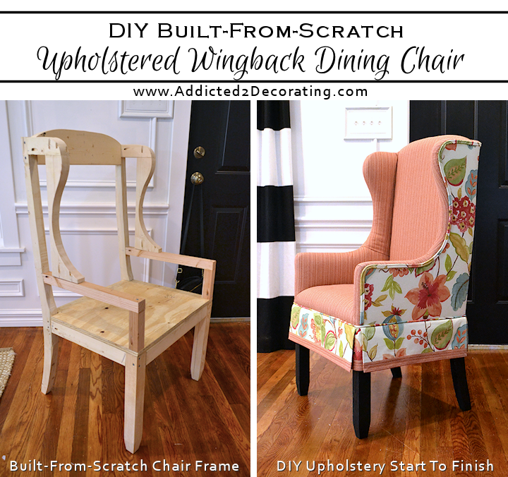 Build Dining Room Chairs: DIY Upholstered Wingback Dining Chair