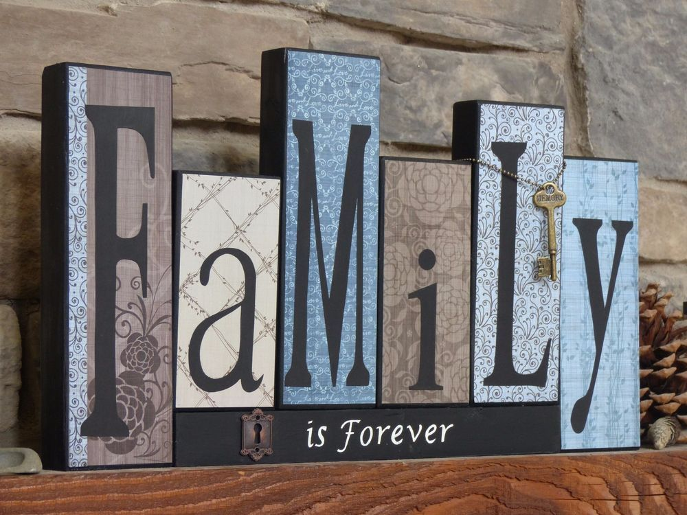 New Family Decorative Block Letters