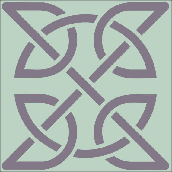 Celtic knot 2 stencil 4 x 4 in 10 mil mylar the artful stencil craft solutioingenieria Images