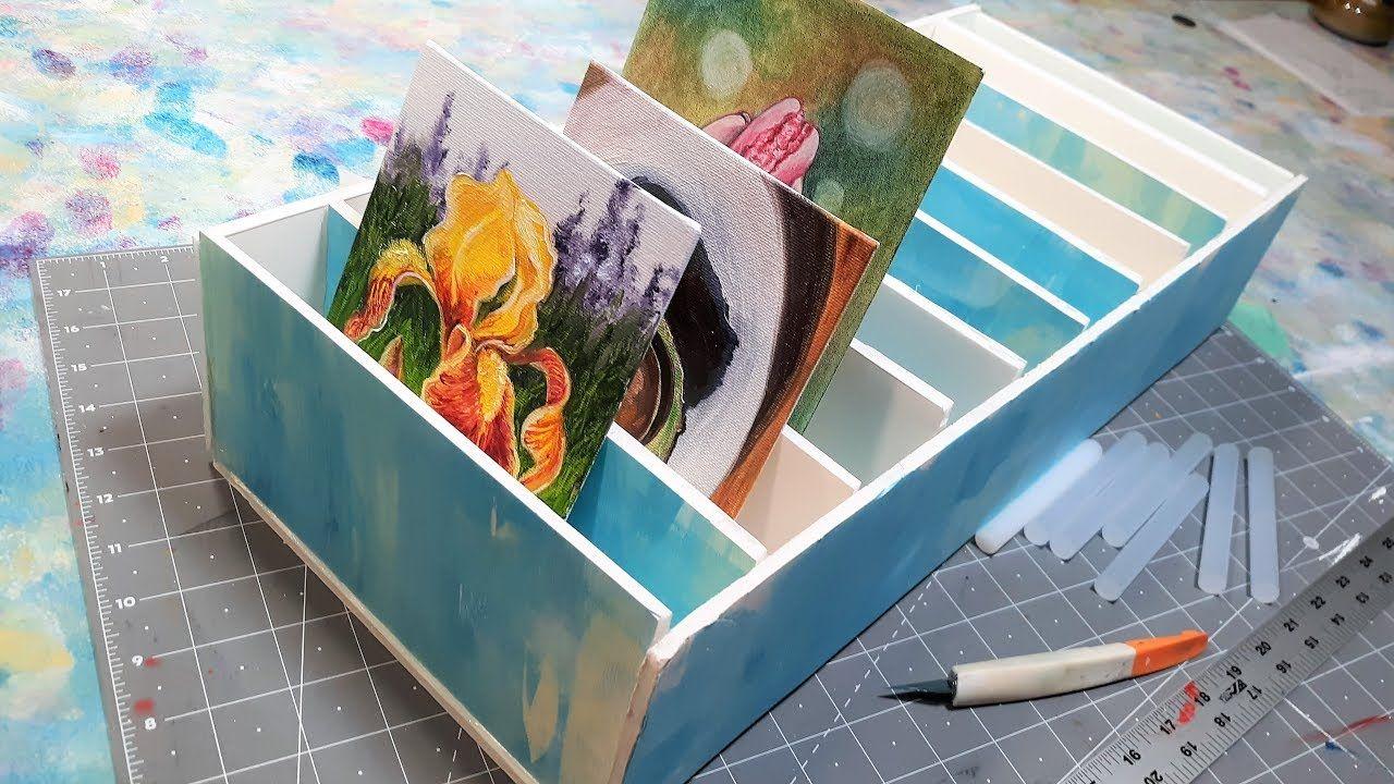 Diy canvas drying rack foamcore storage diy canvas