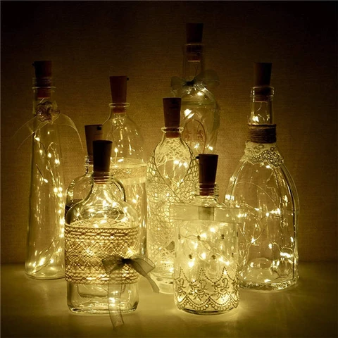 Wine Bottle Lights Battery Operated Led With Images Bottle Lights Christmas Lights Bottle Lighted Wine Bottles